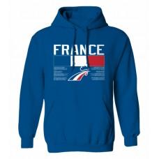 Mikina s kapucňou Francúzsko vz. 1 - royal modrá
