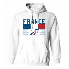 Mikina s kapucňou Francúzsko vz. 1 - biela