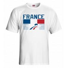 Tričko Francúzsko vz. 1 - biela