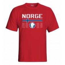 Tričko Nórsko vz. 1 - červená