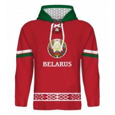 Sublimovaná mikina s kapucňou Bielorusko tmavá