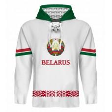 Sublimovaná mikina s kapucňou Bielorusko svetlá