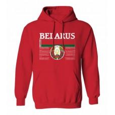 Mikina s kapucňou Bielorusko vz. 1 - červená