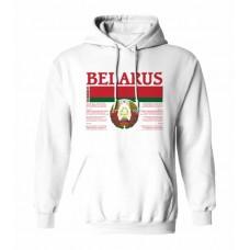 Mikina s kapucňou Bielorusko vz. 1 - biela