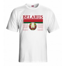 Tričko Bielorusko vz. 1 - biela