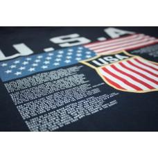 Tričko USA - modrá–tmavomodrá