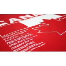 Mikina s kapucňou Kanada vz. 1 - červená