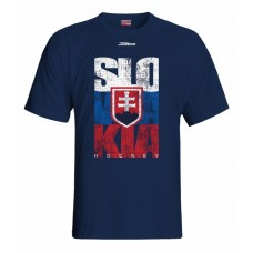Tričko SLOVENSKO 1 - modrá–tmavomodrá