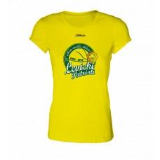 Dámske SlimFit tričko BK Levickí Patrioti vz. 1 - žltá