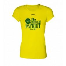 Dámske SlimFit tričko BK Levickí Patrioti vz. 2 - žltá
