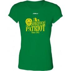 Dámske SlimFit tričko BK Levickí Patrioti vz. 2 - zelená