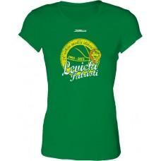 Dámske SlimFit tričko BK Levickí Patrioti vz. 1 - zelená