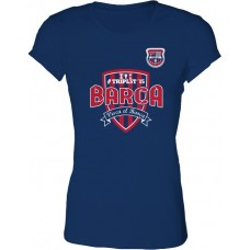 Dámske SlimFit tričko Penya Barcelonista Eslovaca vz. 1 - modrá–tmavomodrá