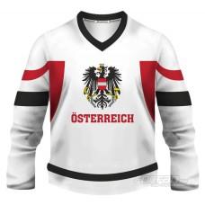 Rakúsko - fanúšikovský dres, biela verzia