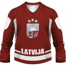 Lotyšsko - fanúšikovský dres, červená verzia