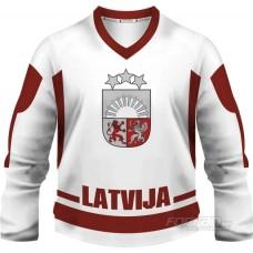 Lotyšsko - fanúšikovský dres, biela verzia