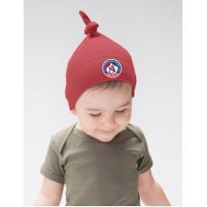 Baby čiapka s uzlom AS Trenčín - červená