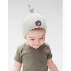 Baby čiapka s uzlom AS Trenčín - biela