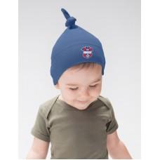 Baby čiapka s uzlom FC ViOn Zlaté Moravce - modrá–tmavomodrá