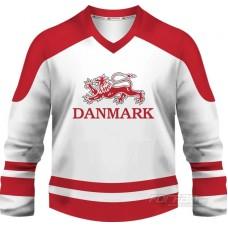 Dánsko - fanúšikovský dres, biela verzia