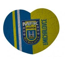 Puzzle srdce MFK Zemplín Michalovce