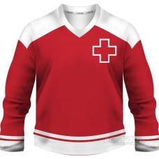 Švajčiarsko - fanúšikovský dres, červená verzia