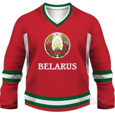 Bielorusko - fanúšikovský dres, červená verzia