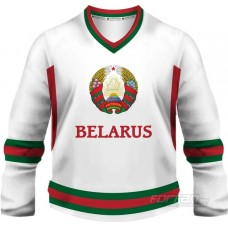 Bielorusko - fanúšikovský dres, biela verzia