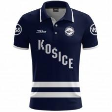 Polokošeľa HK Košice 0119 - modrá–tmavomodrá