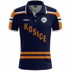 Polokošeľa HK Košice 0219 - modrá–tmavomodrá