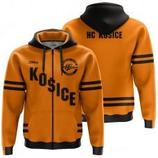 Tepláková mikina so zipsom HC Košice 0220 - oranžová