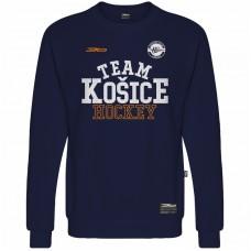Bavlnená mikina bez kapucne HC Košice 1517 - modrá–tmavomodrá