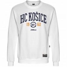 Bavlnená mikina bez kapucne HC Košice 1917 - biela