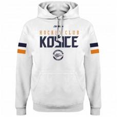 Bavlnená mikina s kapucňou HC Košice  2117 - biela