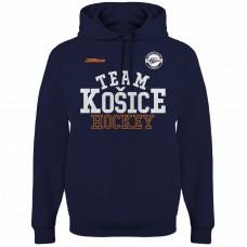 Bavlnená mikina s kapucňou HC Košice  2217 - modrá–tmavomodrá