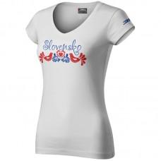 0885780a26b9 biela Folk dámske tričko 0819 - biela