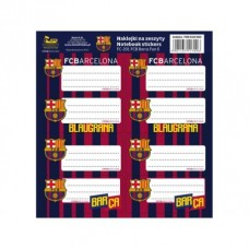 Samolepiace štítky na zošity 8ks FC BARCELONA, FC-201, 708018002