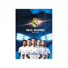 Odkladacia mapa s 3 chlopňami a gumičkou, A4, REAL MADRID, mix motívov, 108017005