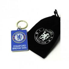 Kovový prívesok na kľúče v darčekovom vrecúšku FC CHELSEA