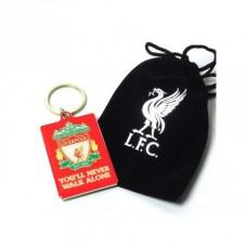 Kovový prívesok na kľúče v darčekovom vrecúšku FC LIVERPOOL