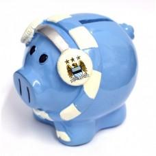 Porcelánová pokladnička MANCHESTER CITY Piggy Scarf