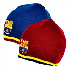 Obojstranná zimná čiapka FC BARCELONA Reversible