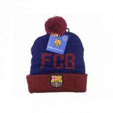 Úpletová čiapka 56cm FC BARCELONA Modrá