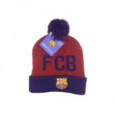 Úpletová čiapka 54cm FC BARCELONA Burgundy