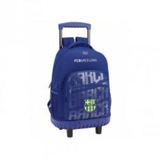 SAFTA Školský batoh na kolieskach FC BARCELONA Blue Neon, 611826818