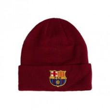 Štýlová zimná úpletová čiapka FC BARCELONA Cuff Burgundy