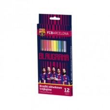 Ergonomické trojhranné farbičky 12ks FC BARCELONA, FC-214, 312018005
