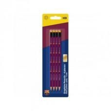 4ks obyčajná ceruzka HB s gumou FC BARCELONA, blister, 206018002