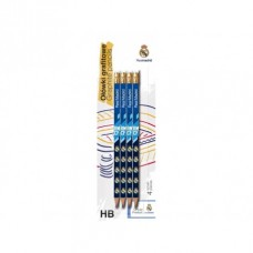 4ks obyčajná ceruzka HB s gumou REAL MADRID, blister, 206018001