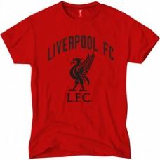 Pánske bavlnené tričko FC LIVERPOOL Black Crest - L (large)